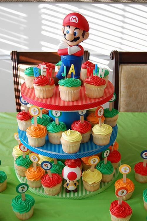 Mario party Cupcake Stand