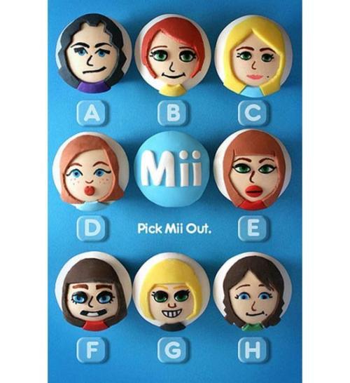 Nintendo Wii Mii Cupcakes Look Delicious