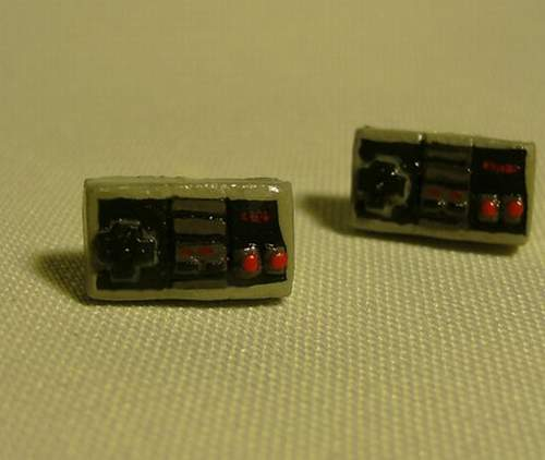 Retro NES Controller Earrings