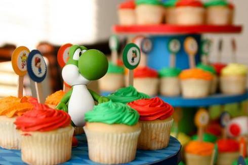 cool yoshi cupcake stand