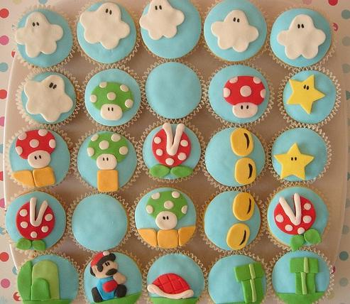cool cupcake designs of super mario bros