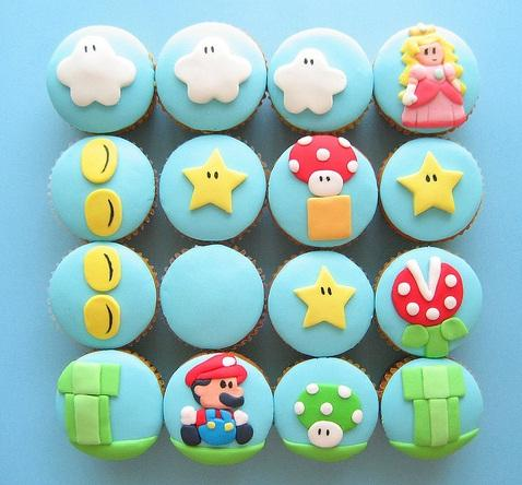 cool super mario brothers cupcakes
