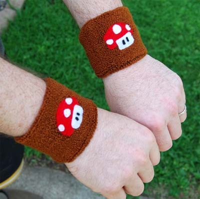 super mario brothers mushroom armband