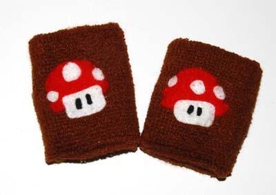 super mario bros mushroom armbands