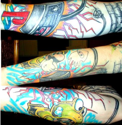 Posted by tattoo-inc. Labels: cartoon tattoos, sleeve tattoo,