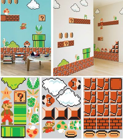 super mario brothers wall graphics