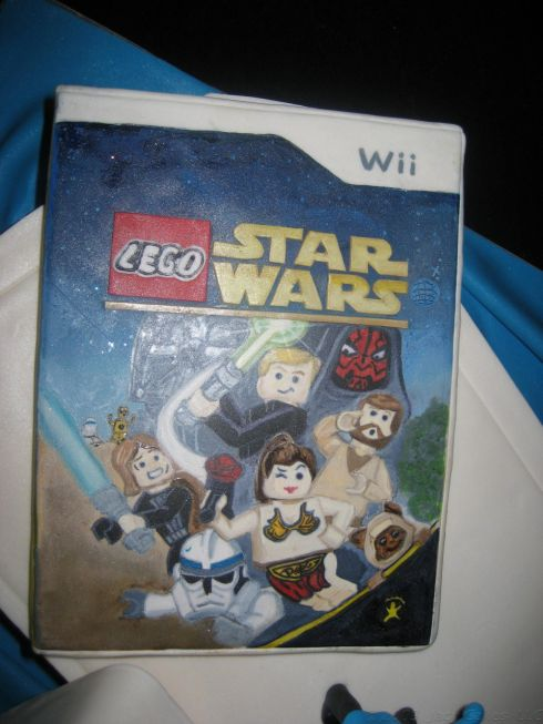 star wars wii cake design