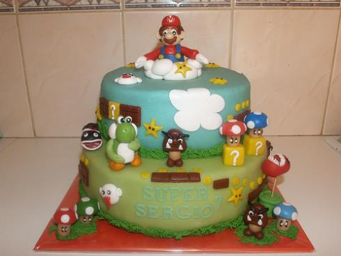 cool new super mario brothers cake design