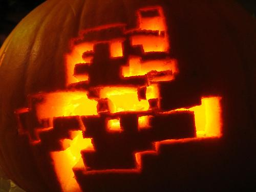 old school super mario pumpkin