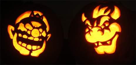 wario bowser pumpkins