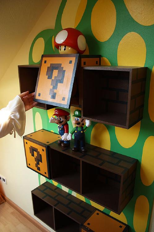 super mario shelf cool pic