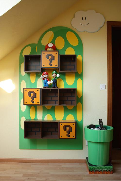 super mario shelf