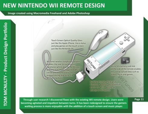 New Nintendo Wii Remote design