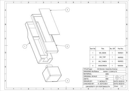 Nintendo Wii Remote sketch