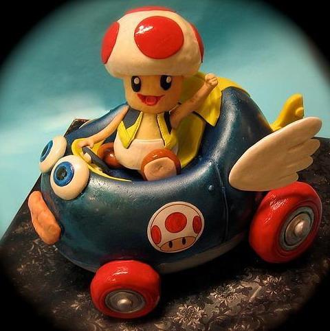 Toad Mario Kart Cake