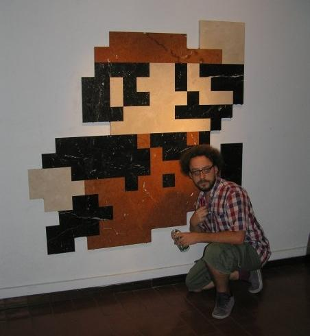 mario wall sculpture