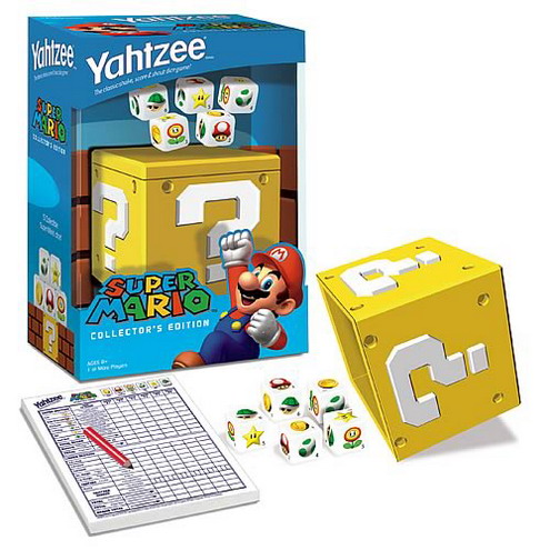 super mario brothers yahtzee game kit