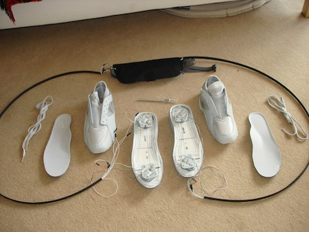 Wii Balance Board built in to Shoes