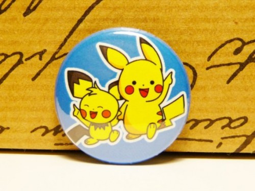 Pikachu and Pichu Button
