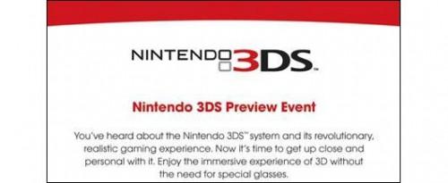 Nintendo 3DS Preview Event