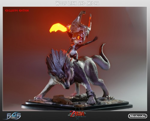 Wolf Link And Midna Statue Image 1