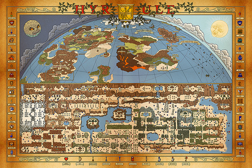 Anicent Hyrule Map By Bill Mudron Image 1