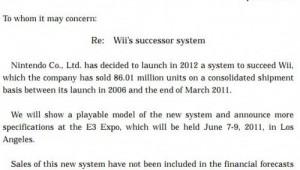 Nintendo Announcing Next Console E3 Note