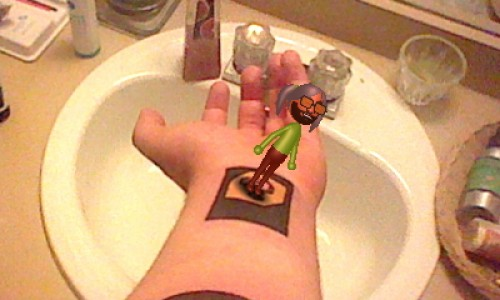 Nintendo 3DS AR Card Tattoo Image 1