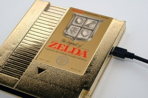 Legend of Zelda Gold Cartridge USB Drive