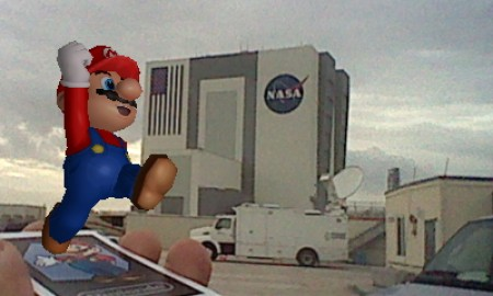 Mario at Space Shuttle Launch 2