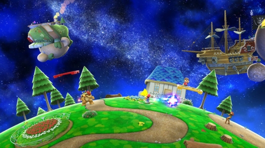 Super Smash Bros Wii Super Mario Galaxy stage image 2